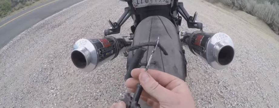How to check motorcycle flat tires